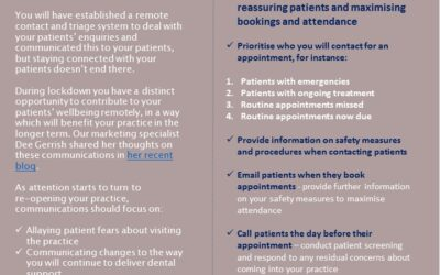 The Return to Work Guide for Dentists – Part 1: Your Patients