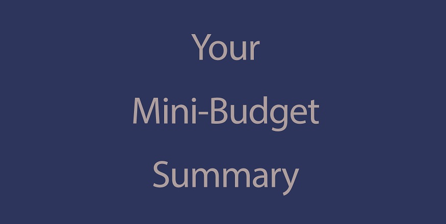 Your Mini-Budget Update