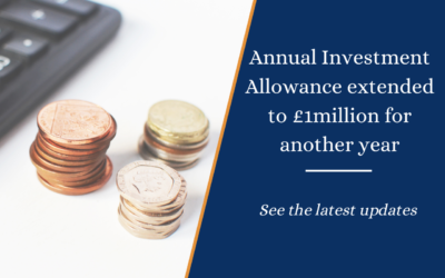 Annual Investment Allowance extended to £1million for another year