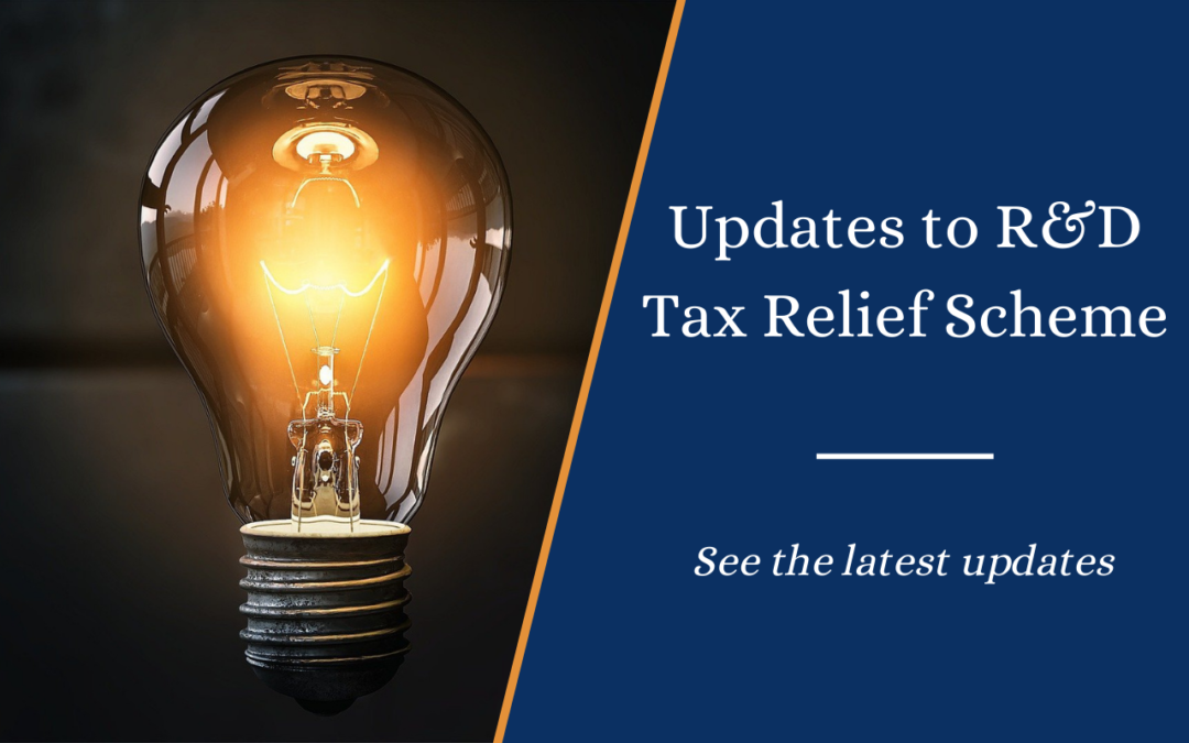 Updates to Research and Development (R&D) tax relief scheme for 2021