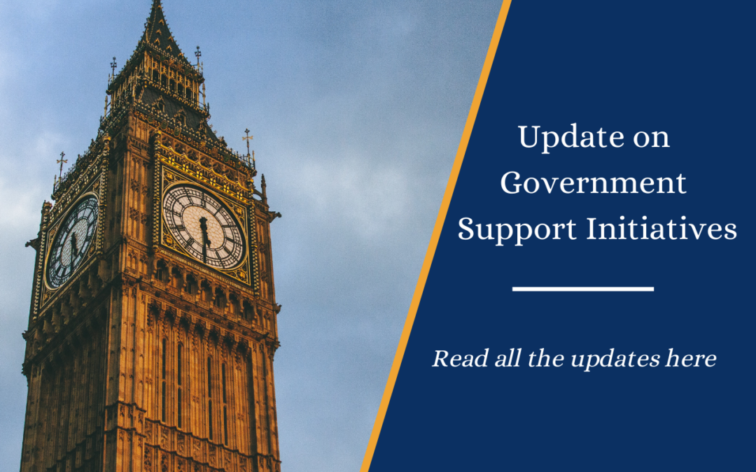 Update on Government Support Initiatives