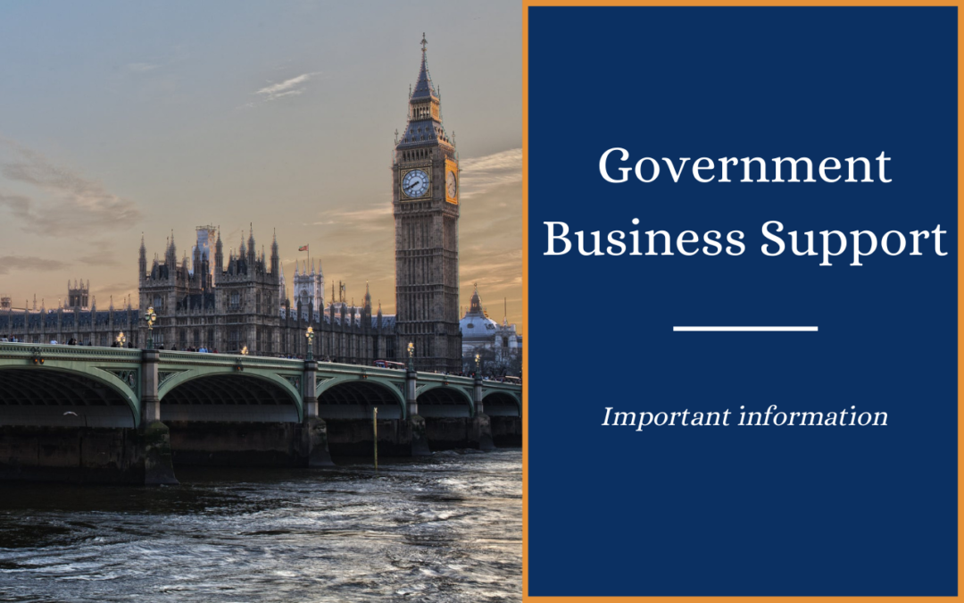 Updates to Government Business Support Announced